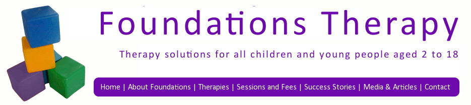 Foundations Therapy solutions for all children and young people aged 2 to 18